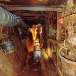 Stahlausbau im  Stolln
